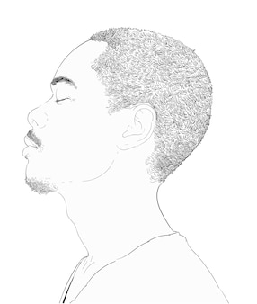 Main dessin illustration du visage humain