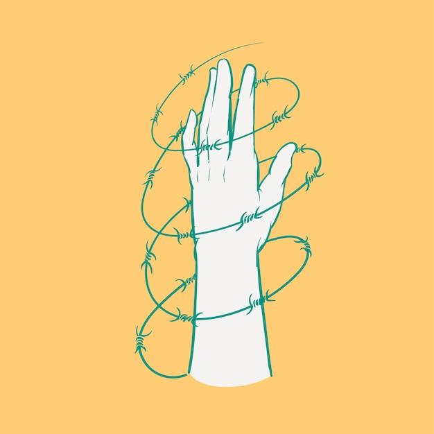 Main, dessin, illustration, ensemble, de, élection