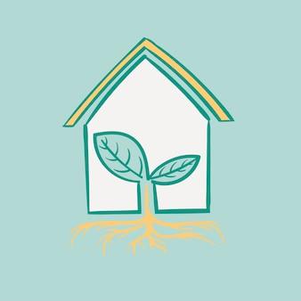 Main, dessin illustration ensemble d'environnement durable