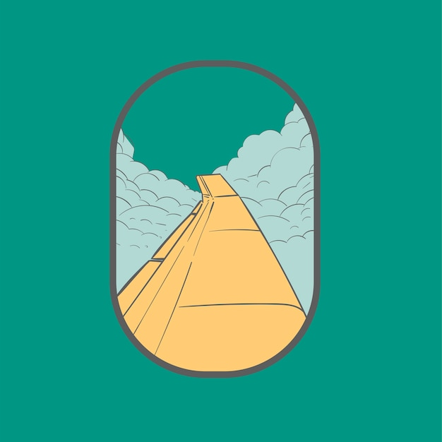 Main, dessin illustration ensemble d'icônes wanderlust