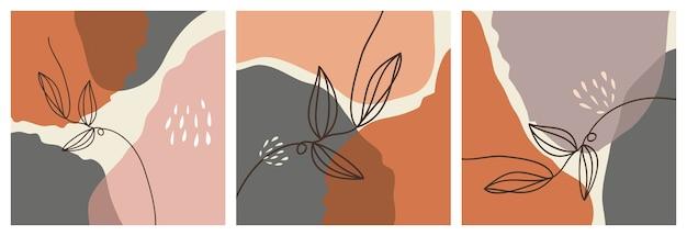 Main a dessiné diverses formes et objets pour le fond. ensemble de doodle abstrait contemporain moderne à la mode.