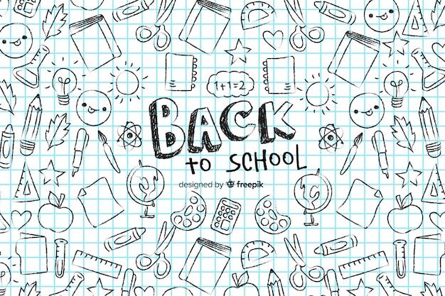 Main dessinée au fond de l'école