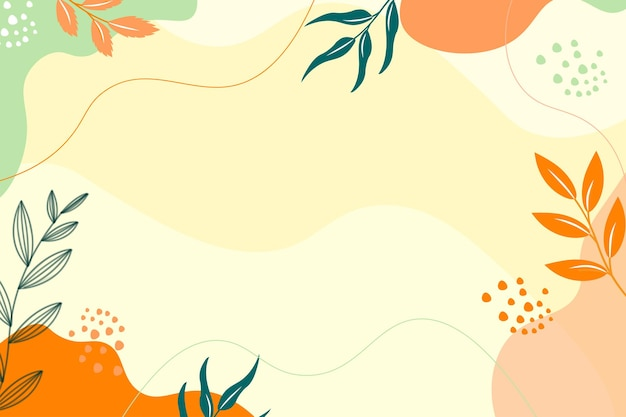 Main dessiner abstrait minimalis naturel