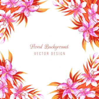 Main dessiner carte florale décorative colorée mariage