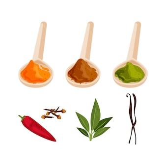Main dessiner la collection d'herbes d'huile essentielle