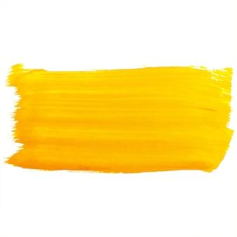 Main dessiner la conception de coup de pinceau orange