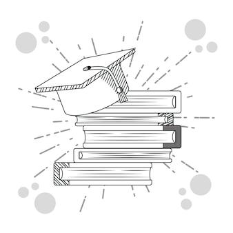 Main dessiner des livres éducatifs dessins animés