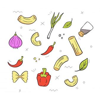Main dessiner macaroni