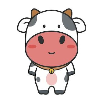 Main dessiner un personnage de vache mignon
