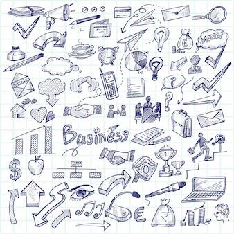 Main dessiner la technologie esquisse doodle scénographie