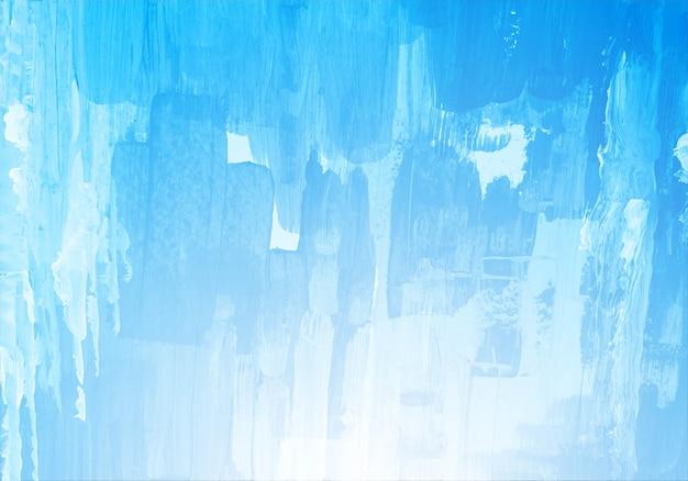 Main dessiner texture aquarelle pinceau bleu