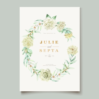 Main élégante dessin invitation de mariage design floral