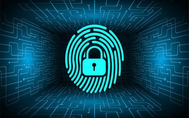 Main, empreinte digitale, réseau, cybersécurité, fond