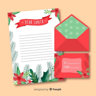 Main enveloppe dessinée lettre et lettre design