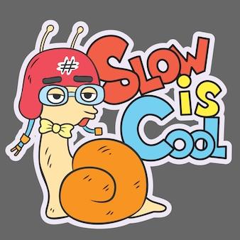 Main d'escargot dessinée pour t-shirt