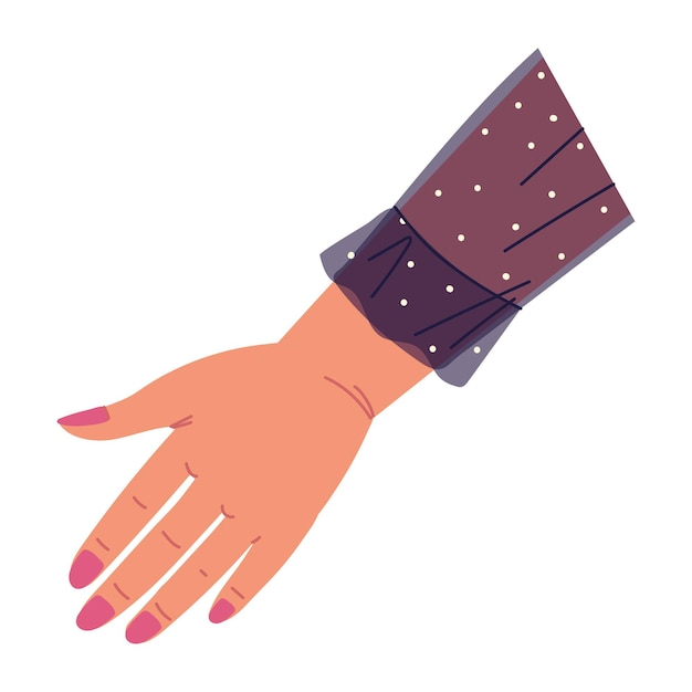 Main féminine avec manucure