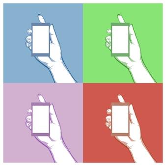 Main graphique tenir le concept d'objet, concept d'idée de vecteur