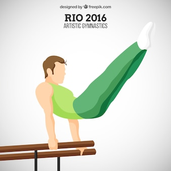 Main gymnaste dessiné homme fond