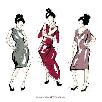 Main illustration tirée des modèles de style japonais