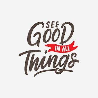 Main lettrage design affiche des citations pour la motivation