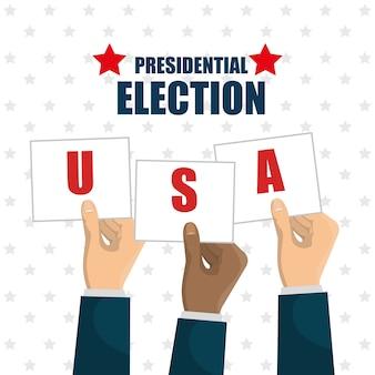 Main levée élection présidentielle usa