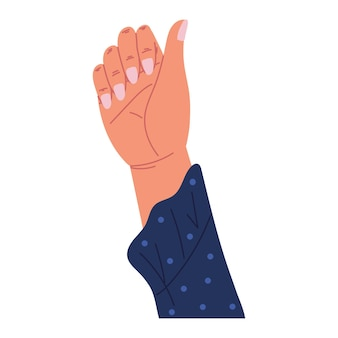 Main levée montrant des ongles