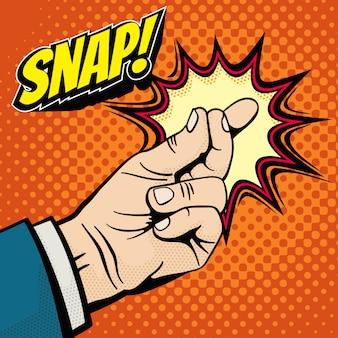 Main masculine avec un geste magique de doigt.