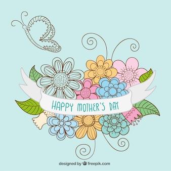 Main mères tirées carte de jour