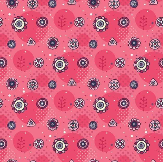 Main mignon motif rose dessinée