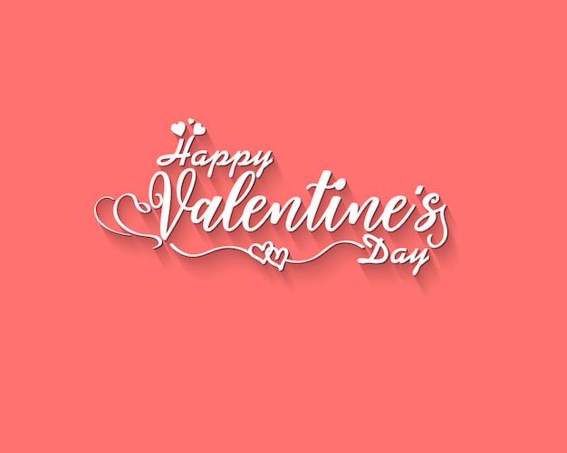 Main a mis au point le texte de bonne saint-valentin comme insigne / icône du logotype saint-valentin.