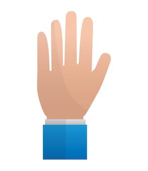 Main montrant cinq doigts illustration vectorielle illustration