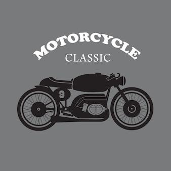 Main de moto vintage dessinée