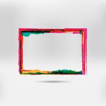 Main multicolor cadre peint