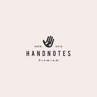 Main musique notes logo vector icon illustration