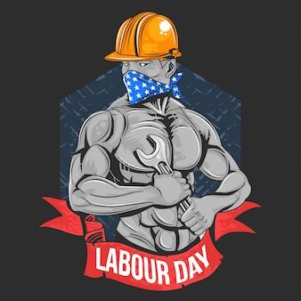 Main d'œuvre jour 1 mai jour ouvrier