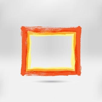 Main orange cadre peint