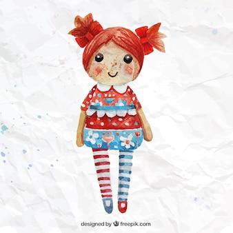 Main poupée peinte