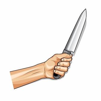 Main tenant un couteau