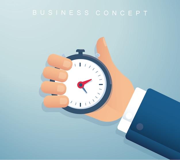 Main tenant une gestion du temps de chronomètre
