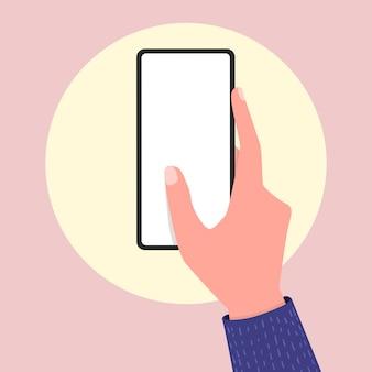 Main tenant un smartphone