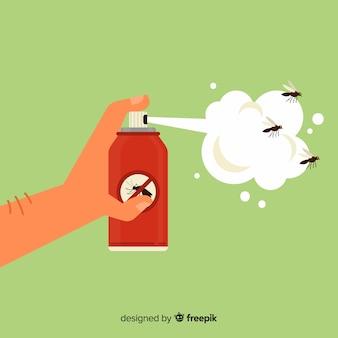 Main tenant spray anti-moustique au design plat