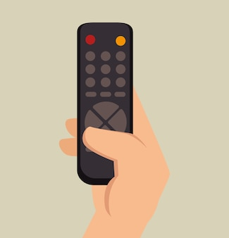 Main tenir le contrôle tv graphique