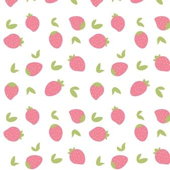 Main transparente dessiner de fond fraise. illustration vectorielle.