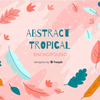 Main tropicale abstraite dessinée