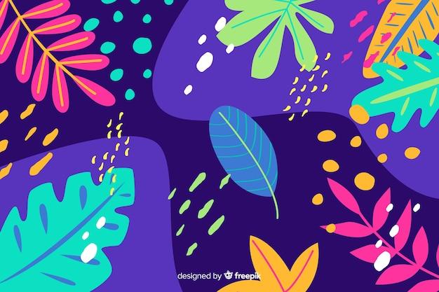 Main tropicale abstraite dessinée