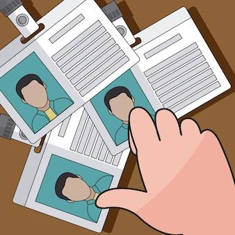 Main voler des cartes d'identité vector illustration graphisme