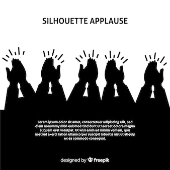Mains applaudissant fond silhouette