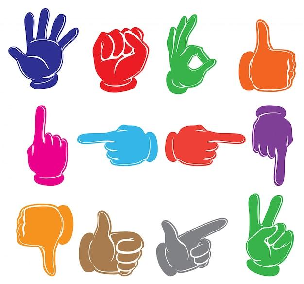 Des mains colorées