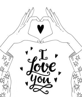 Mains faisant signe de coeur