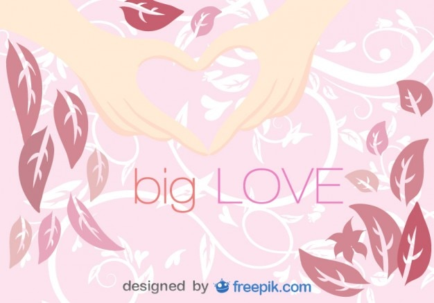 Mains en forme de coeur de l'illustration vectorielle